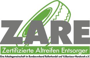 Bender Reifen Recycling - ZARE Zertifizierte Altreifenentsorgung Logo