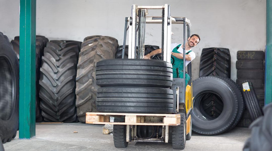 Fork lift tyre recycling
